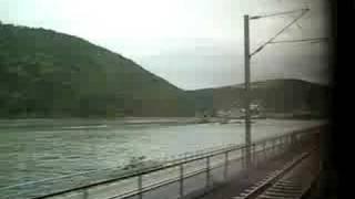 Train Ride through Rhine Valley past Loreley (Sankt Goar - Oberwesel) Mittelrhein