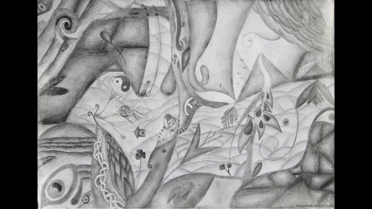 Abstract pencil drawing be free part 2 youtube