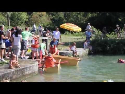 Sautrogrennen 2012 am alten Kanal bei Essing - Kultur- und Faschingsverein