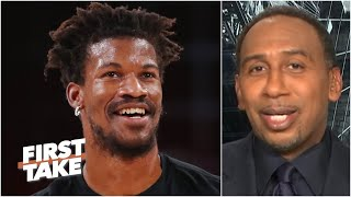 Stephen A. reacts to the Heat's Game 1 win: 'Jimmy Butler, Buckets! The Butler did it!' | First Take