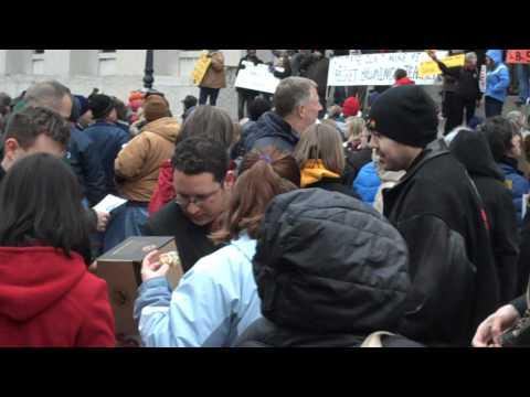 Oberlin's State Representative Dan Ramos (D) at SB5 Protest