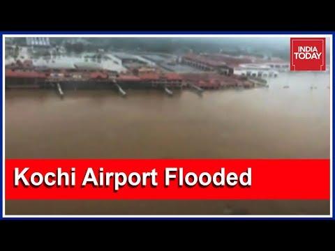 #KeralaSOS : Kochi International Airport Submerges In Periyar River Flood   Exclusive Visuals