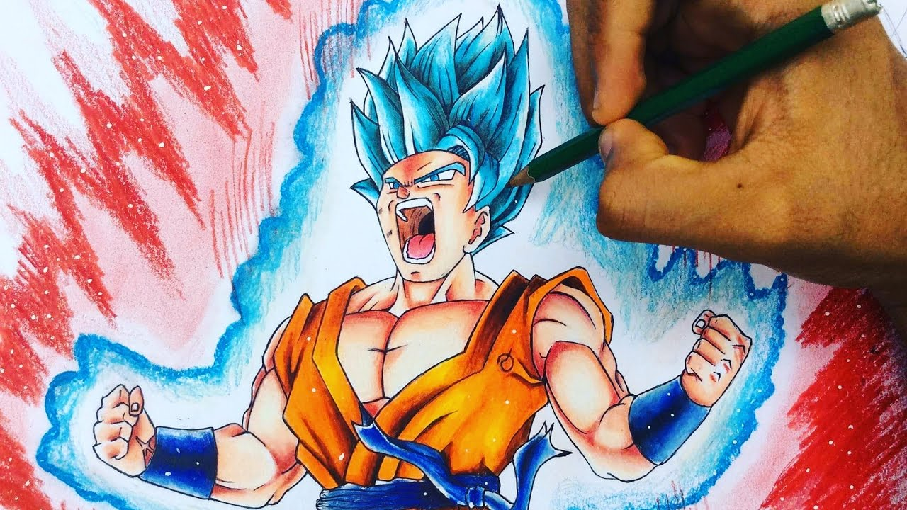 Como Dibujar A Goku Super Ssj Blue Kaioken X20 How To Draw Goku