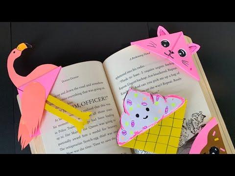 Как сделать стильные закладки для книг? How To Make Stylish Bookmarks For Books.