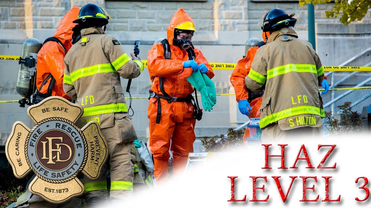 hazmat level 3 - london fire  11  02  2015