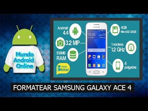 ✔ Como formatear Samsung Galaxy Ace 4