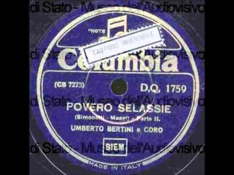 Umberto Bertini e coro - Povero Selassiè! (con testo)