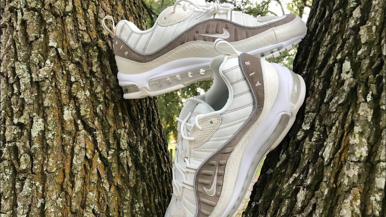 promo code ee86c b3d3f Nike air max 98 se summer scales  snake skin  albino gator review