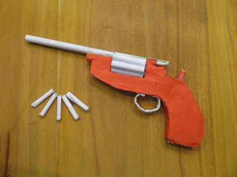 How to Make a Paper Revolver That Shoots Paper Bullets - GTa Weapon