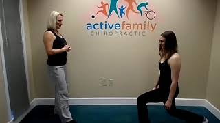 Active family chiropractic | Walking Lunge - Week4/Droopy Butt