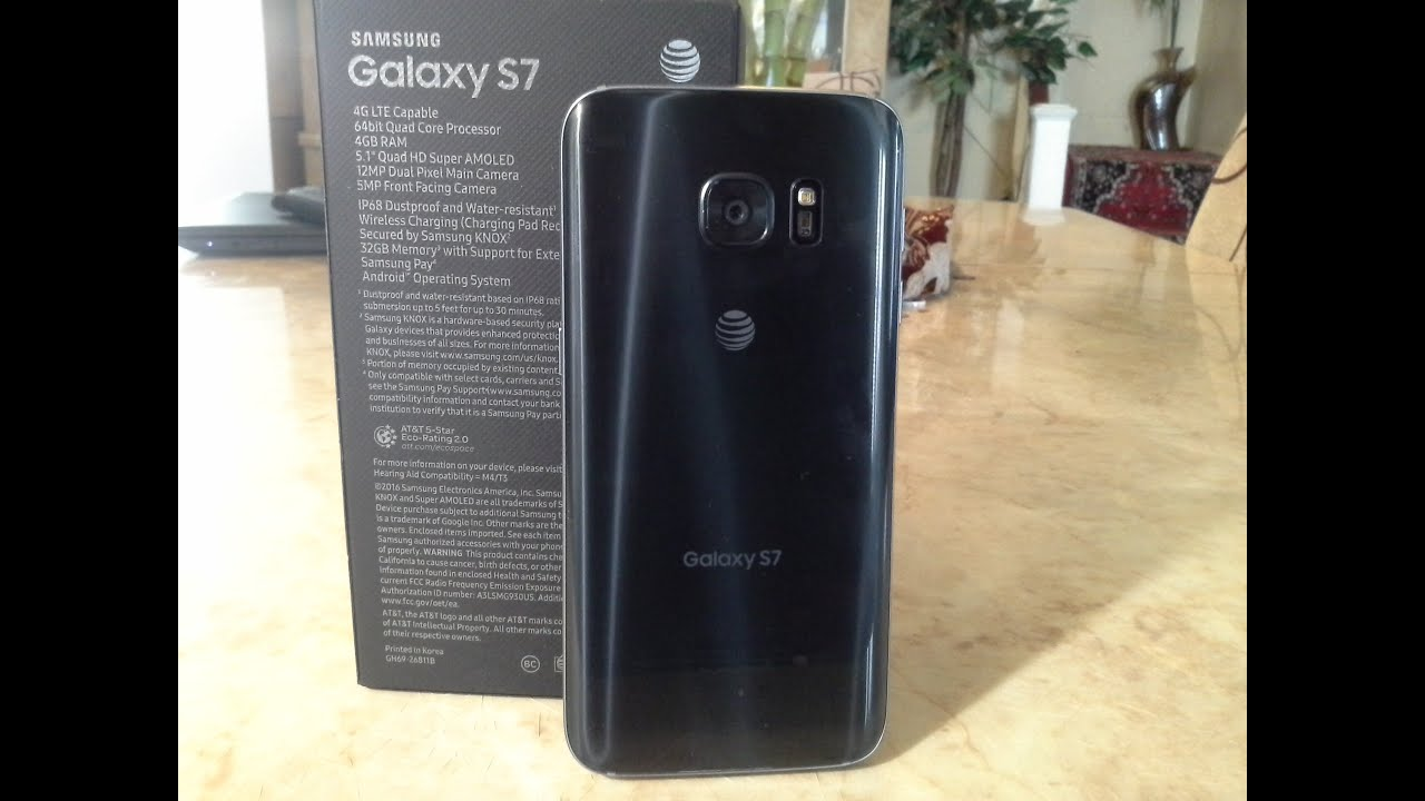 samsung galaxy s7 black onyx unboxing and first impressions   youtube