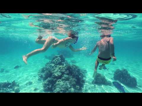 Snorkelling in paradise, the lagoons of the Cook Islands