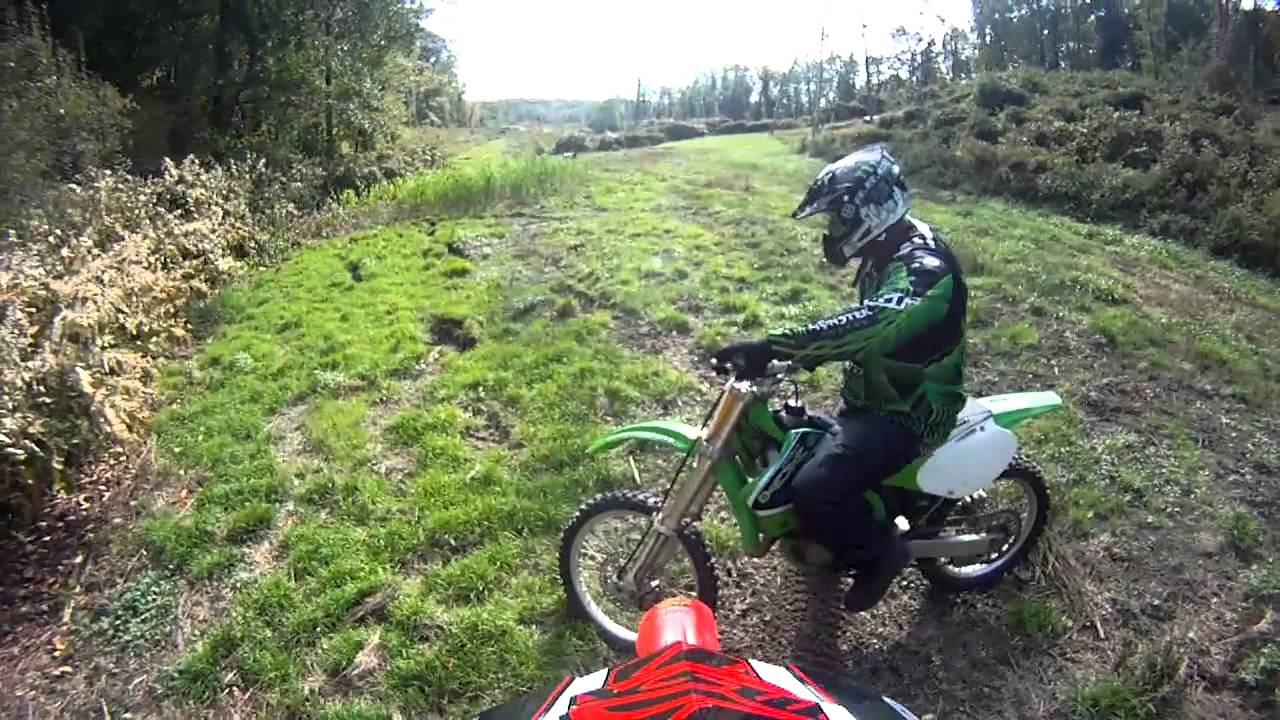 2001 Kx125 Vs Cr125 Trail Race Youtube