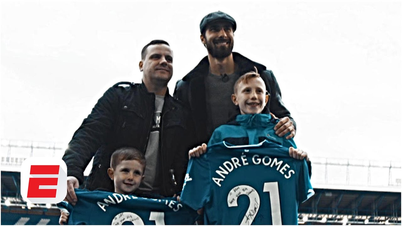 Andre Gomes stuns young Everton fans ahead of Crystal Palace match | Premier League