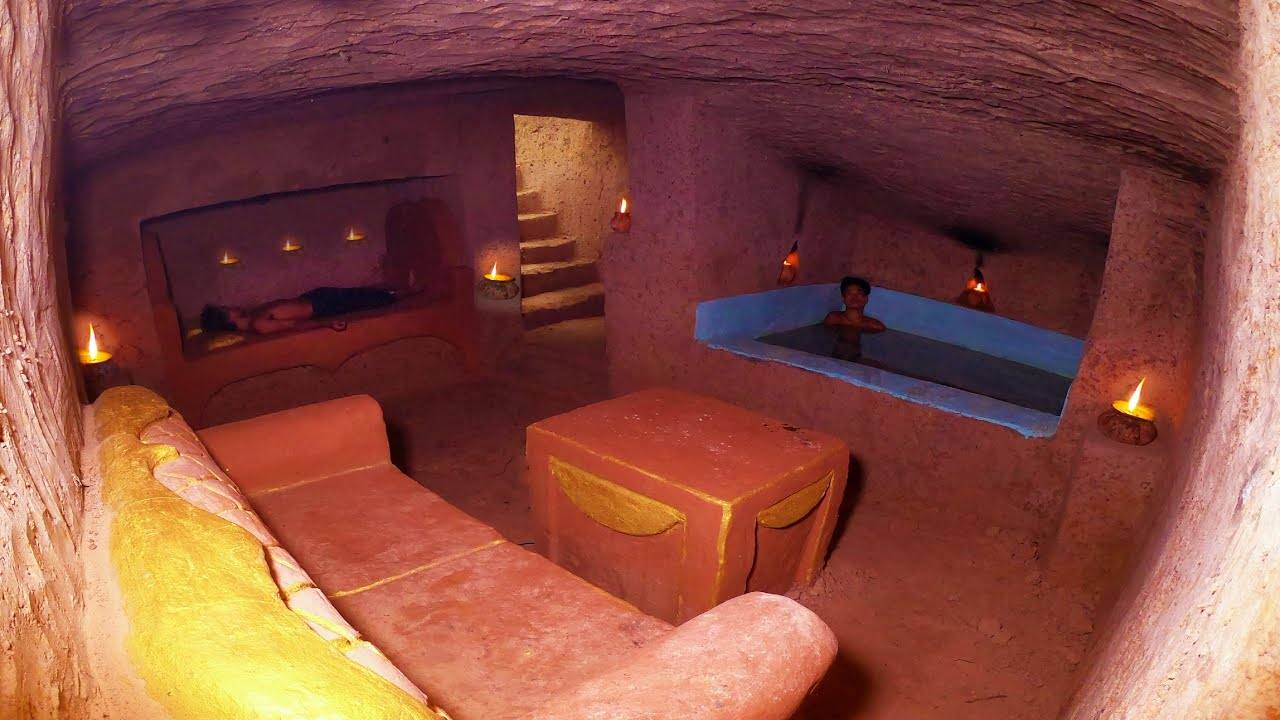 Building Cave Platinum Underground Swimming Pool With Private Living Room Underground