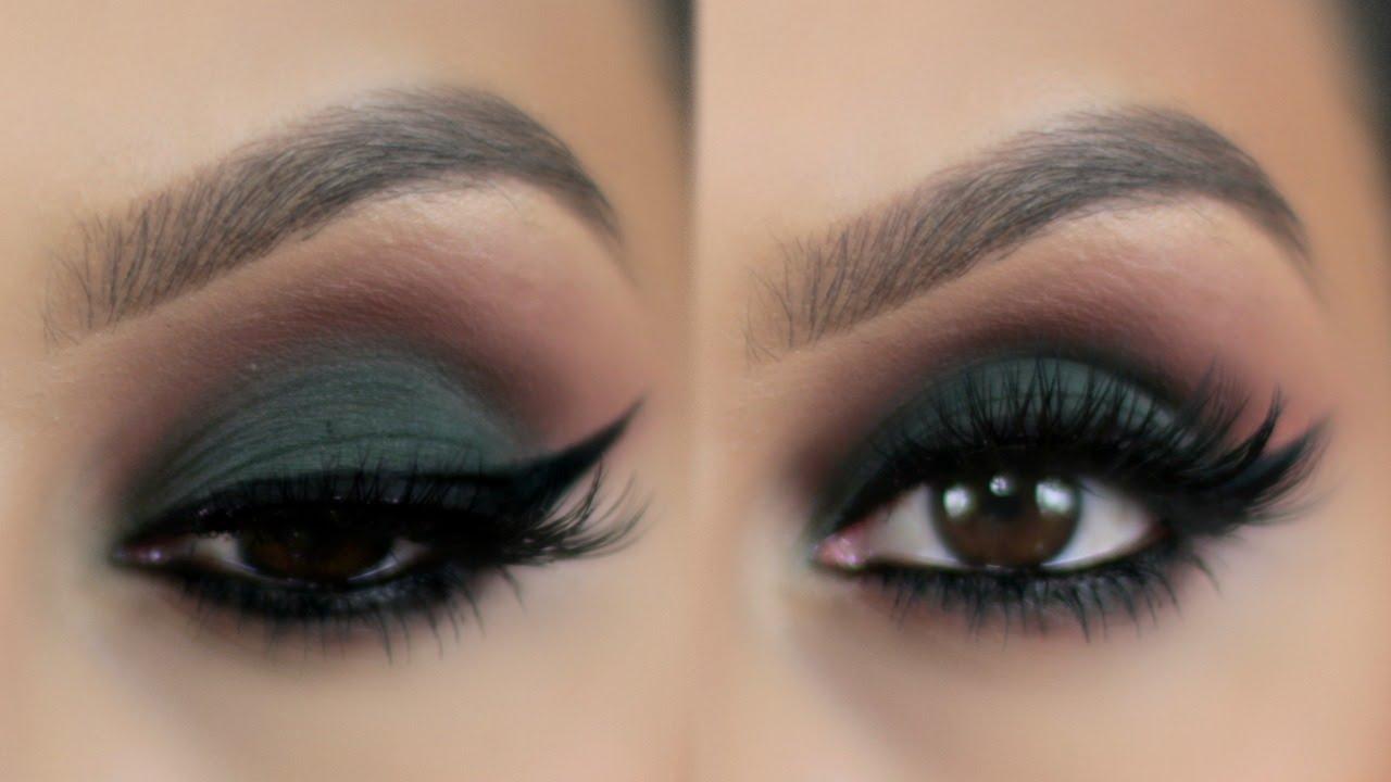 Maquillaje Ojos Ahumados en Verde   PajaritaBella - YouTube