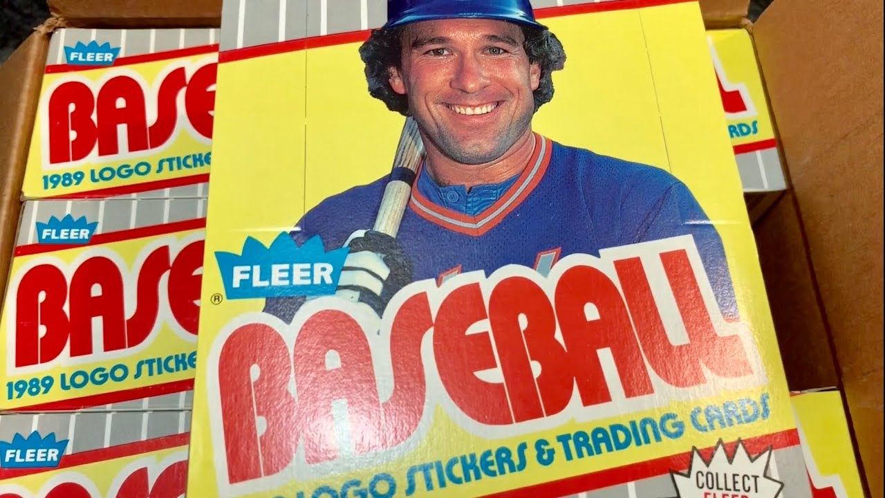 478b09fdf1 OPENING AN OLD BOX OF 1989 FLEER AND THE LEGEND OF THE BILL RIPKEN F FACE  CARD (THROWBACK THURSDAY)