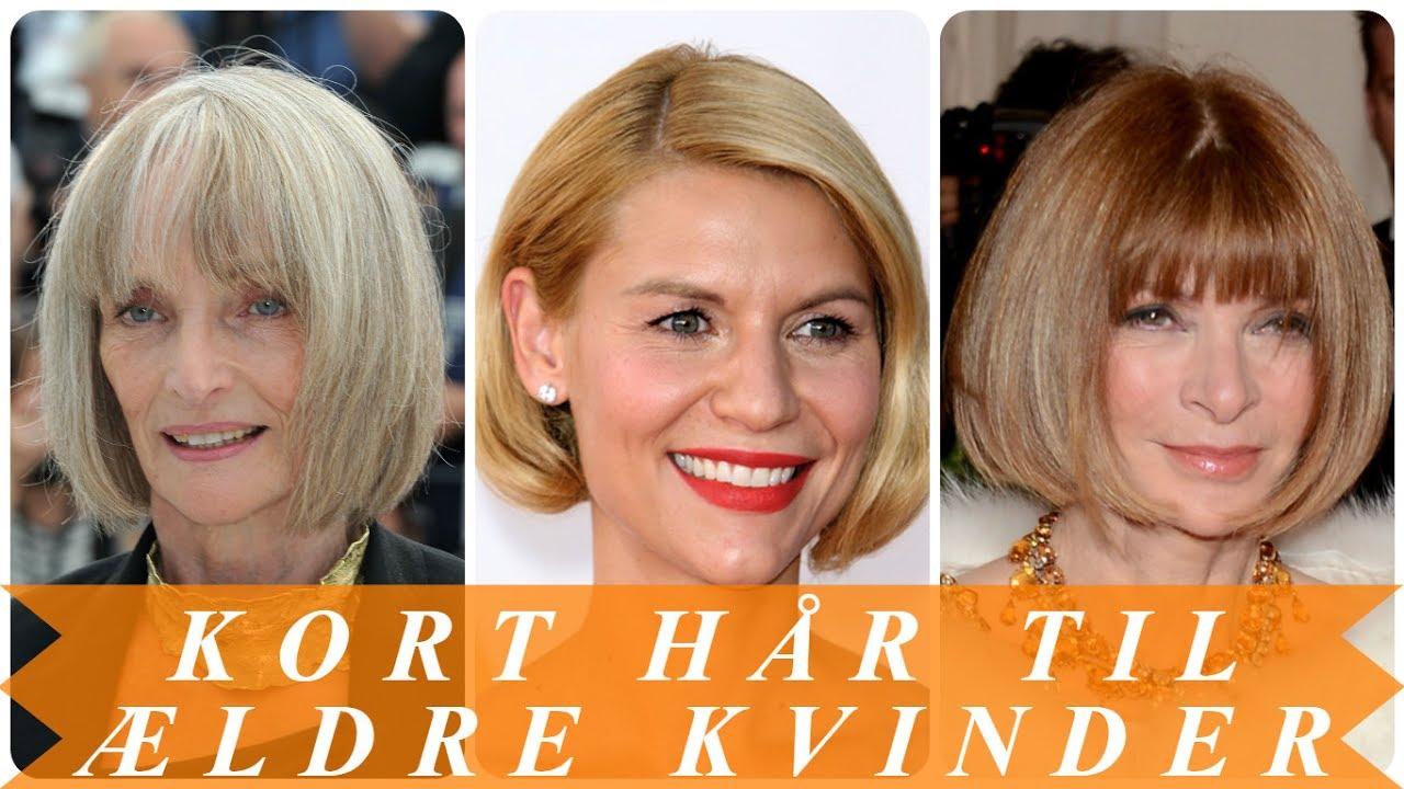 Kort hår til ældre kvinder - YouTube