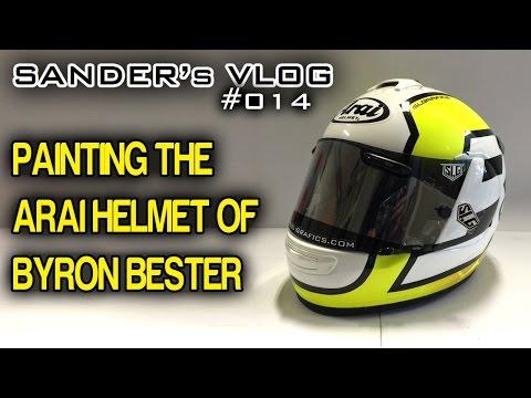 Painting the Arai helmet for Byron Bester - Sander's vlog 014