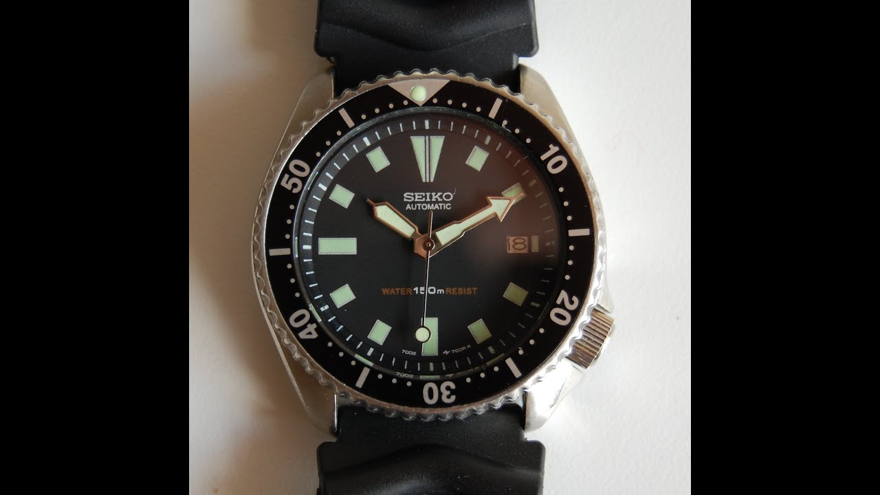 3503107fe 1994 Seiko 7002 divers watch 1st Generation - YouTube