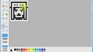 三国志 張闓 emozi icon made by a simple way with MS paint.