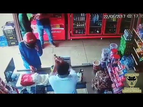 Store Owner Gets the Drop on Robbers  Active Self Protection