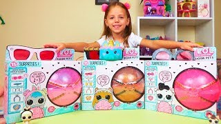 Величезний Куля ЛОЛ Вихованець з малюками BIGGIE LOL PETS surprise Відео для дітей Розпакування