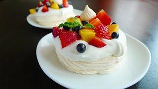ПАВЛОВА. Очень вкусный, воздушный порционный десерт Павлова!