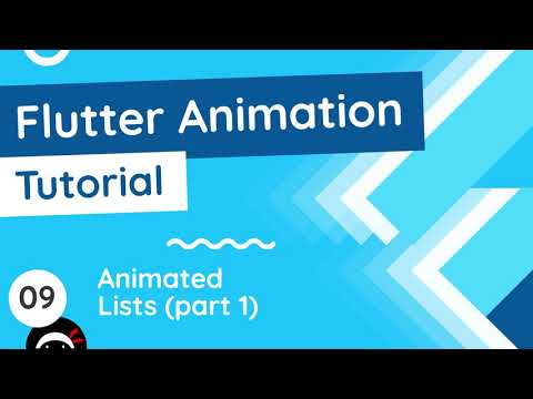 Flutter Animation Tutorial #9 - Animated Lists
