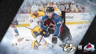 NHL 18 PS4. REGULAR SEASON 2017-2018: Nashville PREDATORS VS Colorado AVALANCHE. 03.16.2018. (NBCSN)