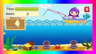 Permainan anak Memancing dilaut bersama Dora. Mainan memancing untuk anak anak