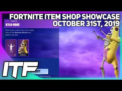 Fortnite Item Shop *NEW* PEELY BONE SKIN + EMOTE! [October 31st, 2019] (Fortnite Battle Royale)