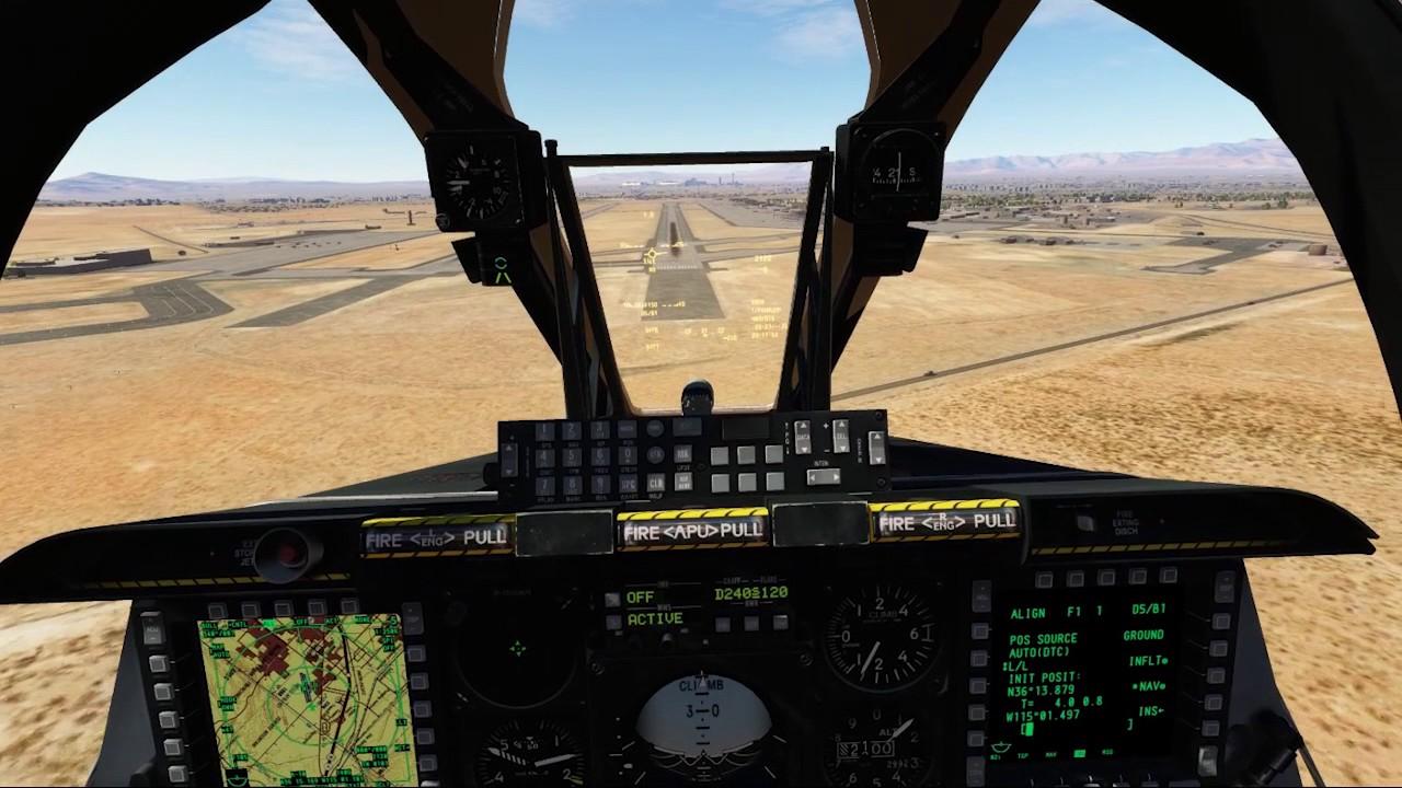 DCS A10C TrackHat Head tracker Demo