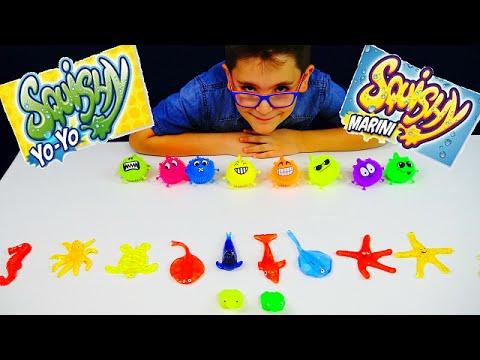 SQUISHY YOYO E SQUISHY MARINI - Leo Toys - YouTube