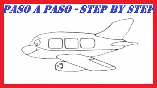 Como dibujar un Avión l How to draw a Plane