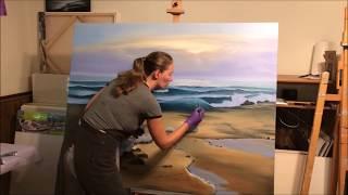 Awakening - Sunrise over the Ocean painting by Eva Volf