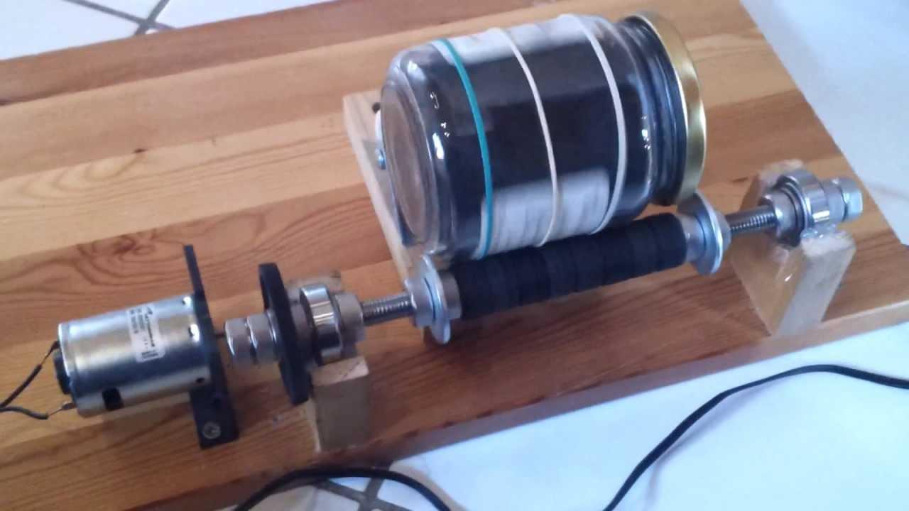 kleine selbst gebaute kugelm hle getriebe 25 1 youtube. Black Bedroom Furniture Sets. Home Design Ideas