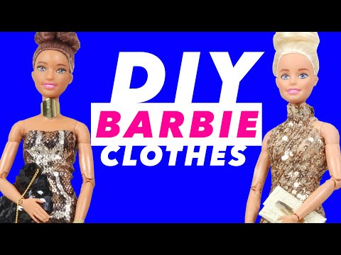 DIY Party Clothes for Barbie Dolls; Dresses, Bags, Shoes, Jewelry - Totally Cool Hacks and Crafts