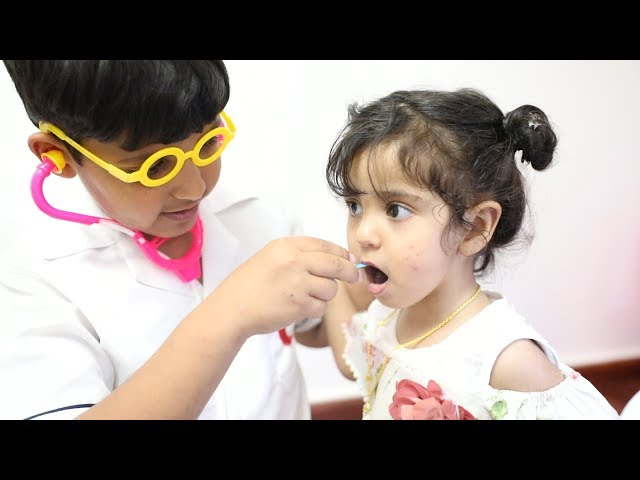 ❤️أسنان ليلى فيها سوسه / والدكتور عماد يعالجها 🔥