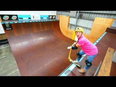 AUSTRALIA'S BIGGEST HALFPIPE ON SCOOTER!