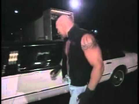GOLDBERG broke the window but broken his fist - YouTube.flv