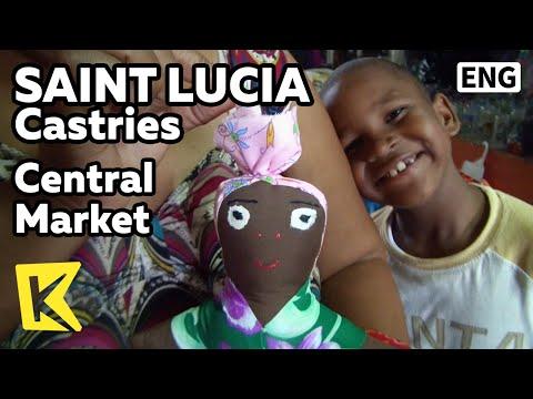 【K】Saint Lucia Travel-Castries[세인트루시아 여행-캐스트리스]중앙시장의 공예품/Central Market/Handicrafts