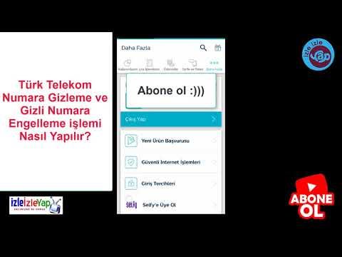 Türk Telekom Numara Gizleme ve Gizli Numara Engelleme işlemi Nasıl Yapılır?