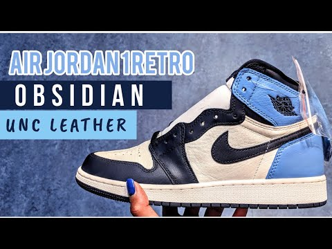 Air Jordan 1 Retro Unc Leather Obsidian Gs Early Look First