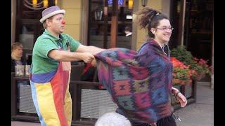 Pepe - street clown in Wroclaw