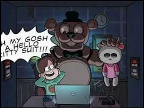 Oh Mah A Hello Kitty Suit Gravity Falls Fnaf Check