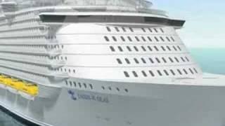 世界最大の豪華客船カリブ海クルーズ「オアシスオブザシーズ」の映像です。