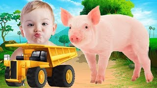Colors For Children to Learn with Animals , Learn Colors With Truck For Kids, Name and Sound Animals