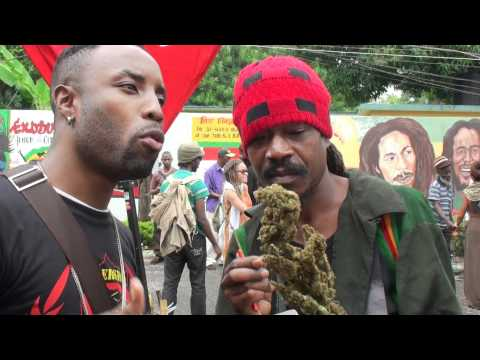 Cutty interviews Highest (the Ganja man) at Bob Marley Day 2012