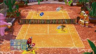SEGA Superstars Tennis Xbox 360 Gameplay - Latin Doubles